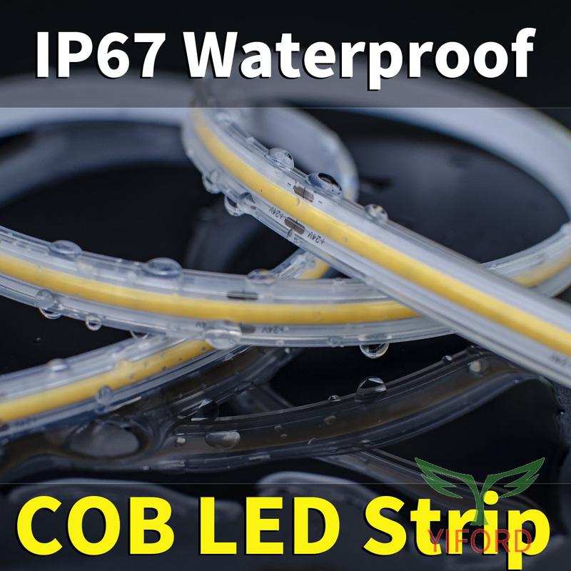 Водонепроницаемая светодиодная лента COB-IP67