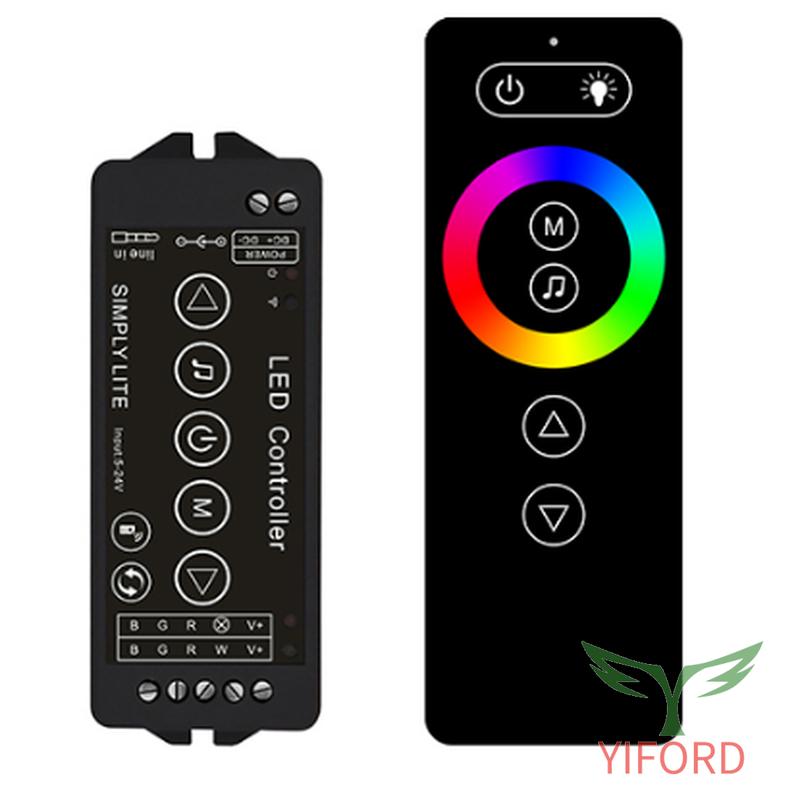 Перезаряжаемый дистанционный светодиодный RGB / RGBW аудиоконтроллер