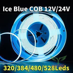 COB azul hielo 12V / 24V 320/384/480 / 528leds
