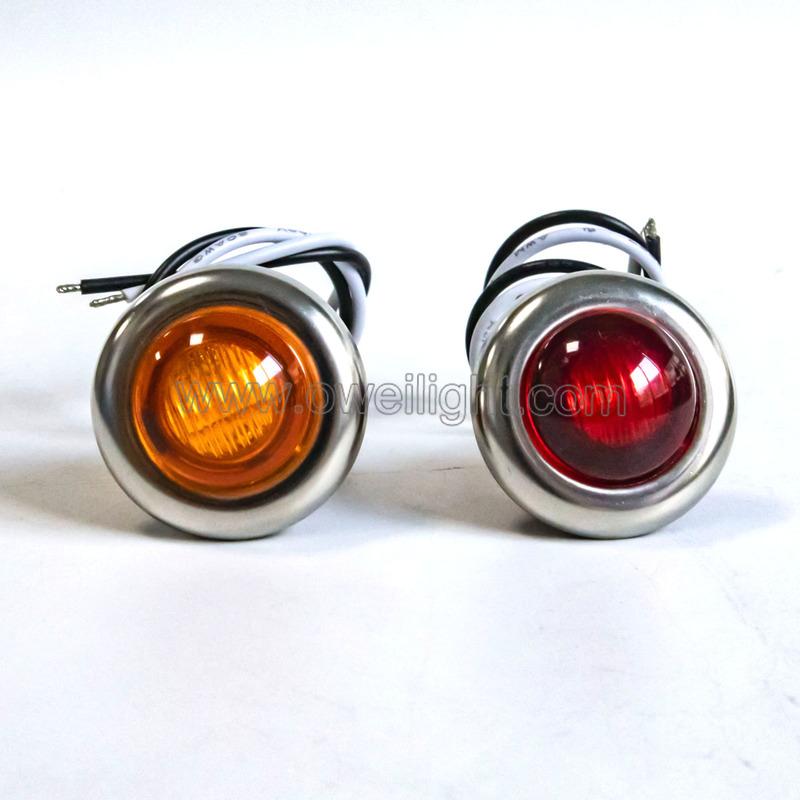 0.06W Motorcycle LED Turn Signal Light Amber Indicator Flasher Blinker