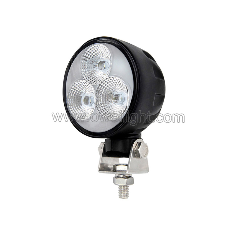 New Round EMC4 30w Car Accessories Led Work Lamp IP68 Flood and Spot Work Led Light, 360°rotation work lamp