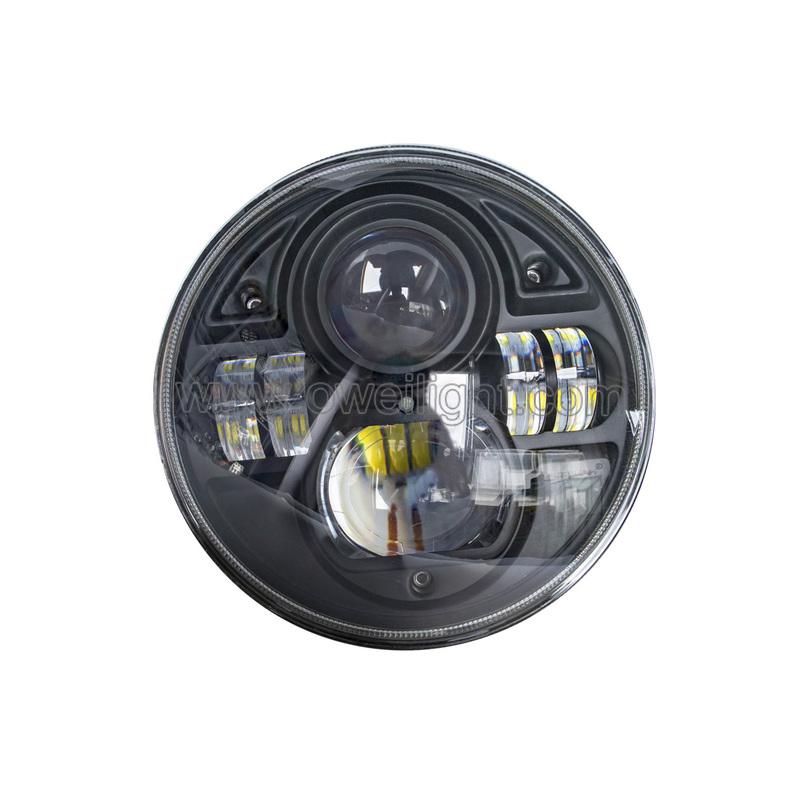 Round Shape 73W  Motorcycle LED Headlight