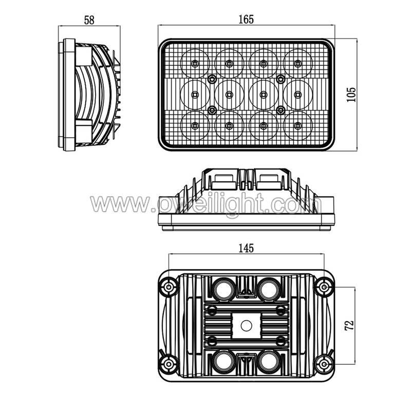 Rectangular 12 Volt LED Lights Agriculture