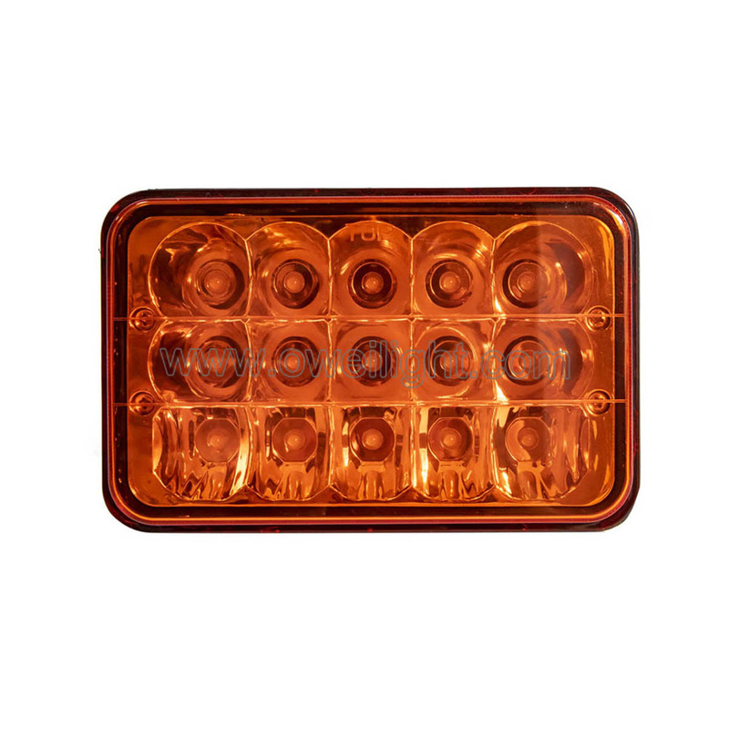Amber Color Customized 45W Headlamp Car Accessories Led Headlights