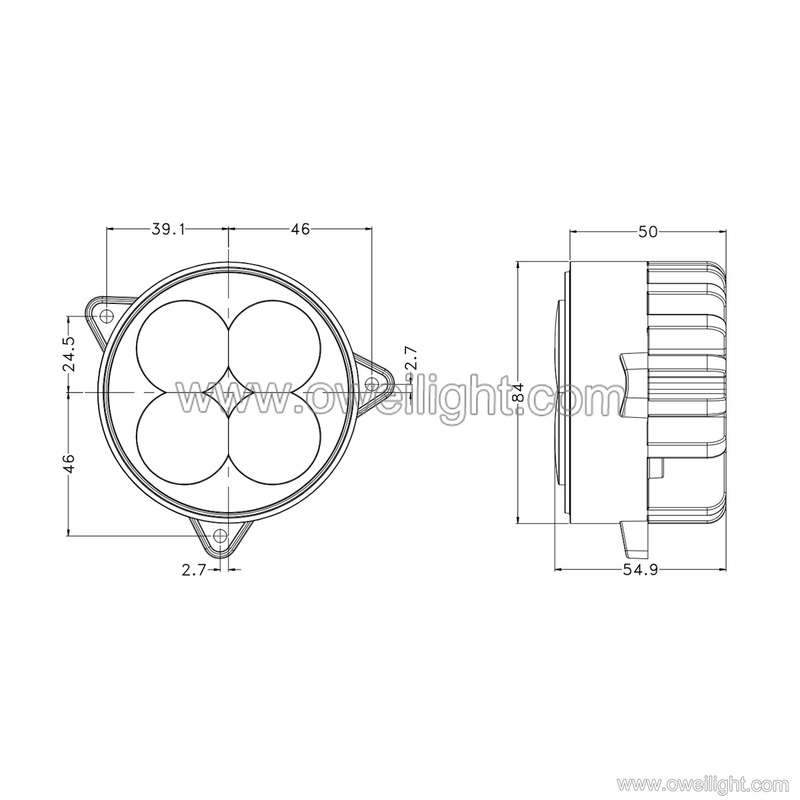 high power Round 40W agricultural machinery light