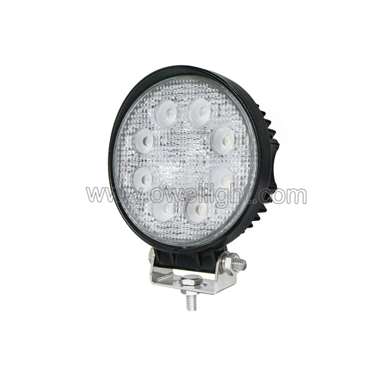 Round 24w Car Accessories Led Work Lamp IP68 Flood and Spot Work Led Light