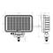 Rectangle 40W LED Work Light For JP Offroad ATV UTV Trucks excavator etc