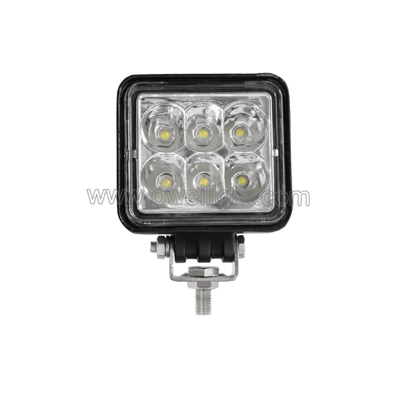 Led Square Lighting Auto Parts Accessories Truck 18w Car Led Work Light