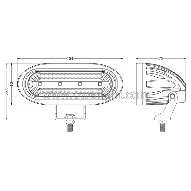 good quality 50w LED Vehicle Work Lights for Heavy Duty Industrial Trucks & Car UTV SUV ATV 4X4