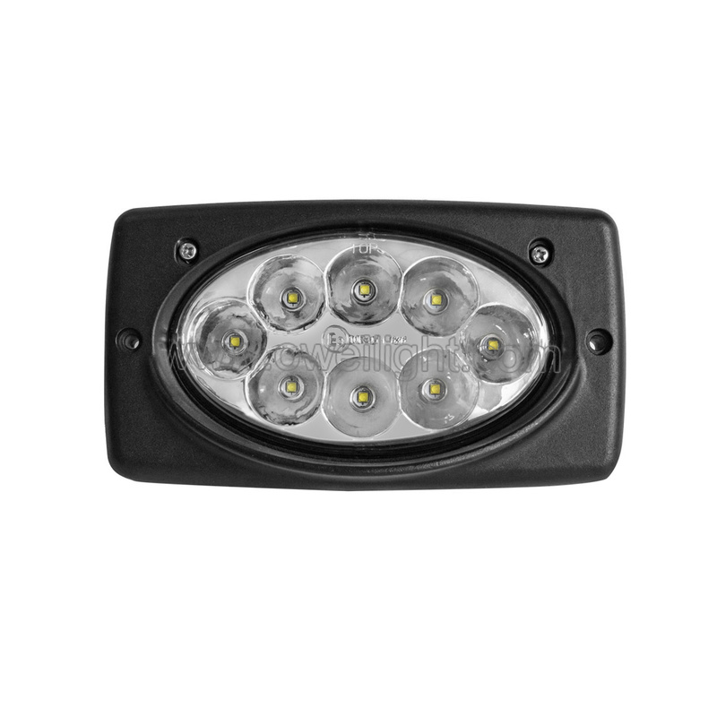40W IP68 Waterproof Square Offroad Lights for 9-32V Vehicle Truck Agriculture Mining Lighting