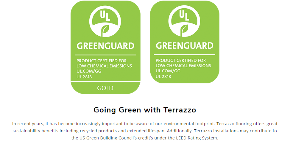 The Environmental Impact of the Use of Cement & Epoxy Terrazzo
