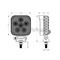 18W Heavy Duty LED Work Light Suitable for Cars, Boats, 4x4s, Vans