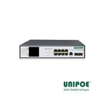 8-Port Gigabit+2G SFP+1Console LCD Display Managed High PoE Switch(8-Port PoE,Port1-4 Support 802.3af/at/bt , Port5-8 Support 802.3af/at Standard)