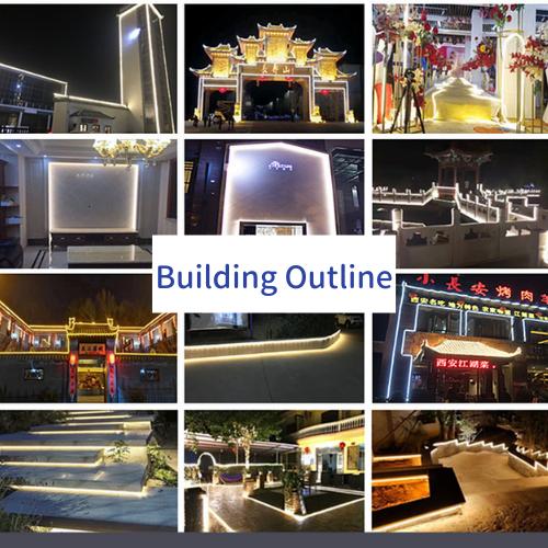 Контур здания / Внешнее настенное освещение / Многослойный свет
