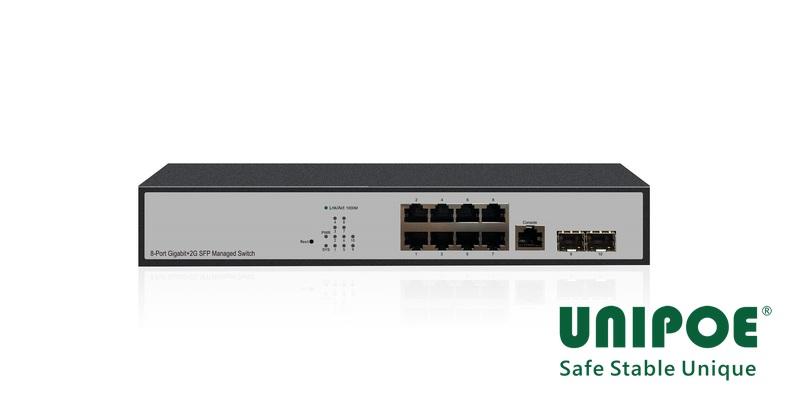 8-Port Gigabit+2G SFP Uplink Managed switch