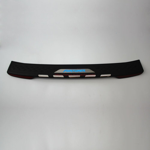 TOYOTA FORTUNER 2015 REAR STEP COVER with light BLACK+CHROME
