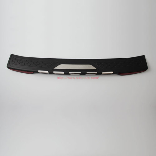TOYOTA FORTUNER 2015 REAR STEP COVER without light BLACK+CHROME