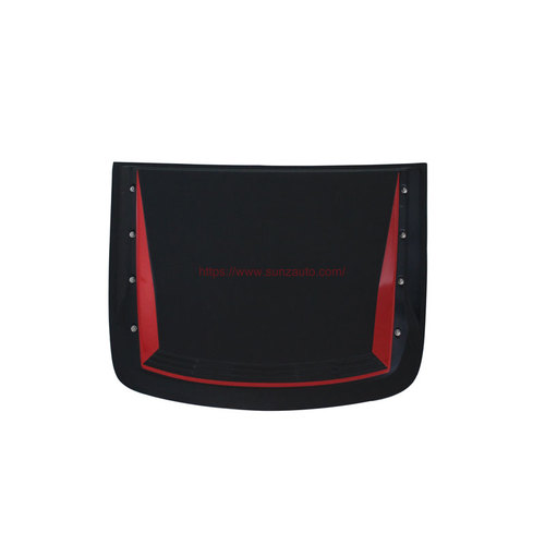 CHEVROLET COLORADO 2017 BONNET SCOOPS COVER with NUTS BLACK RED