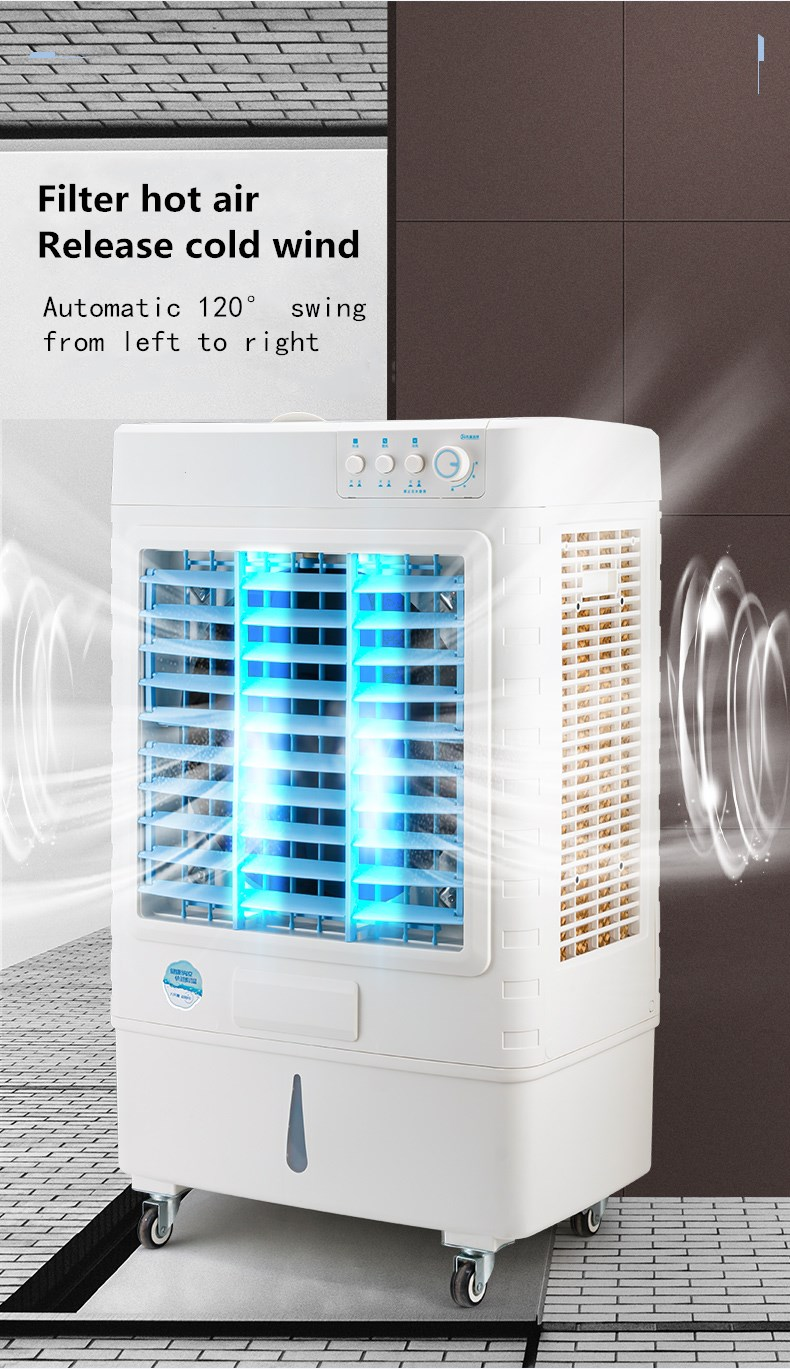 70L factory Industrial Movable water Evaporative Air Cooler Quick Conditioner Air Evaporative Cooler
