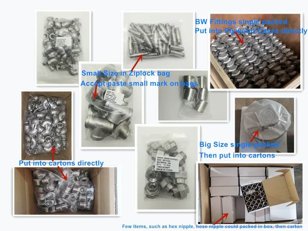 Packing of Pipe Fittings