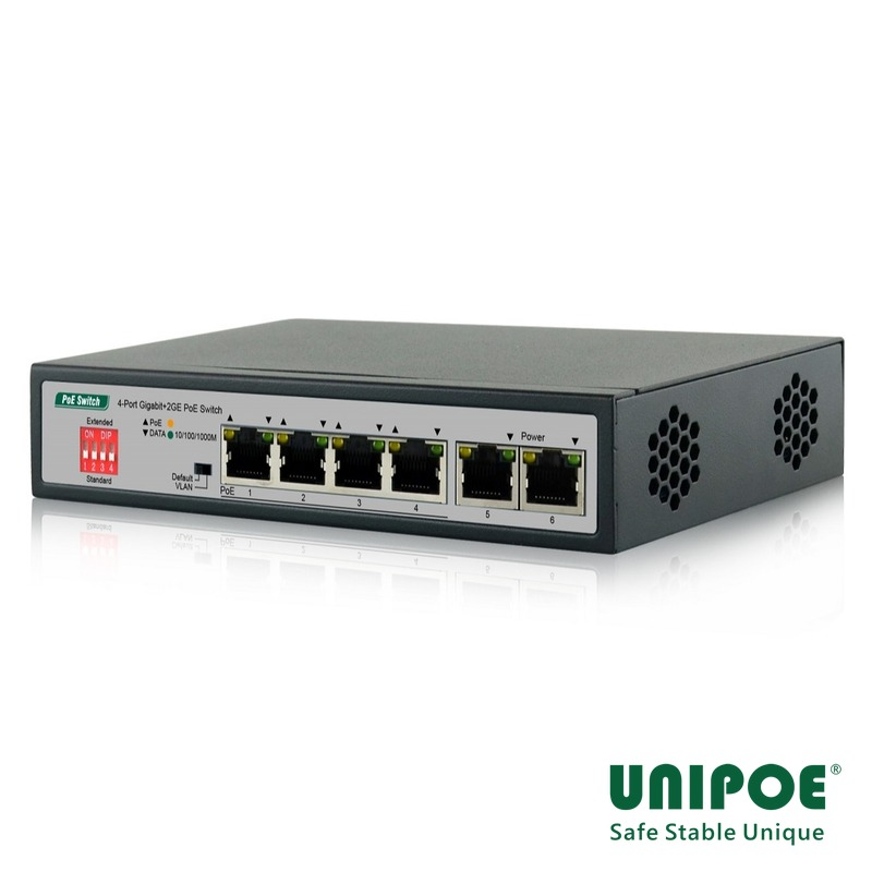 4*10/100/1000Mbps+2GE PoE Switch
