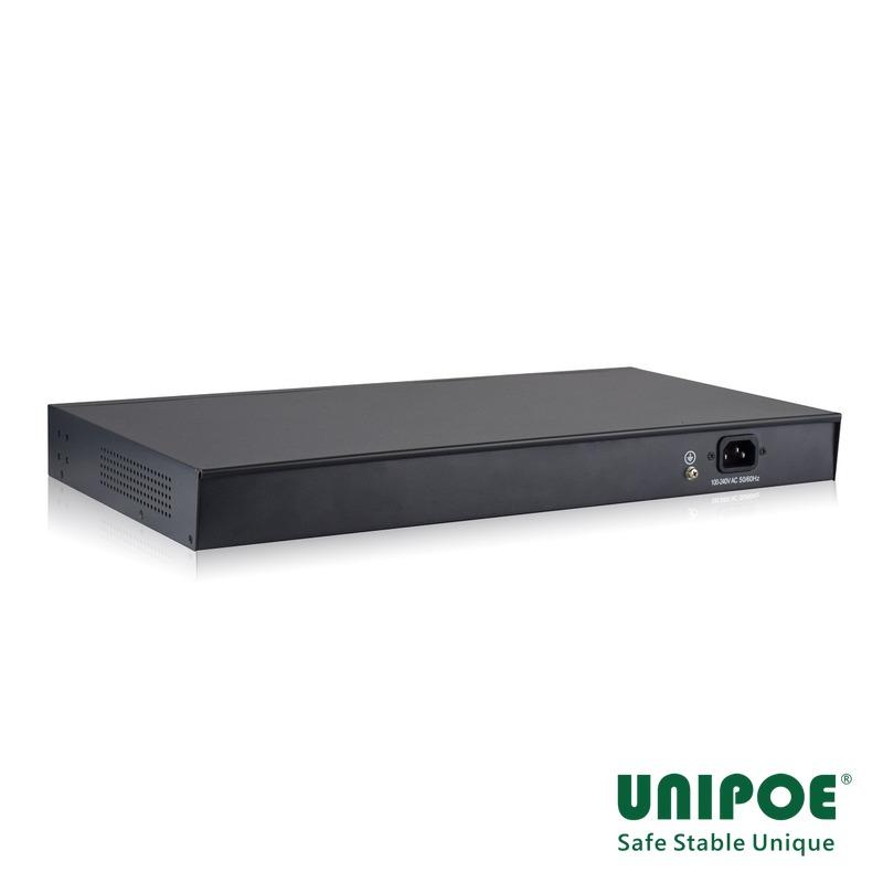 24*10/100Mbps+2GE+2G SFP Gigabit Uplink PoE Switch With V3 LCD Display (24-Port PoE,Support 802.3af/at Standard)