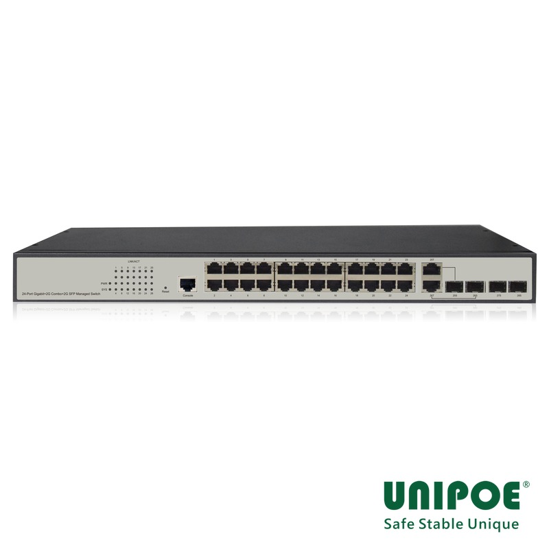 24-Port Gigabit+2G Combo+2G SFP+1Console Managed Switch