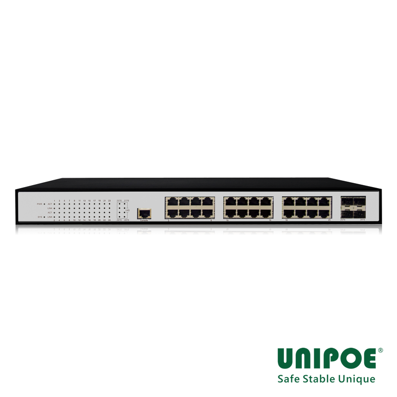 24*10/100/1000Mbps+4* 10G SFP+ Managed Switch