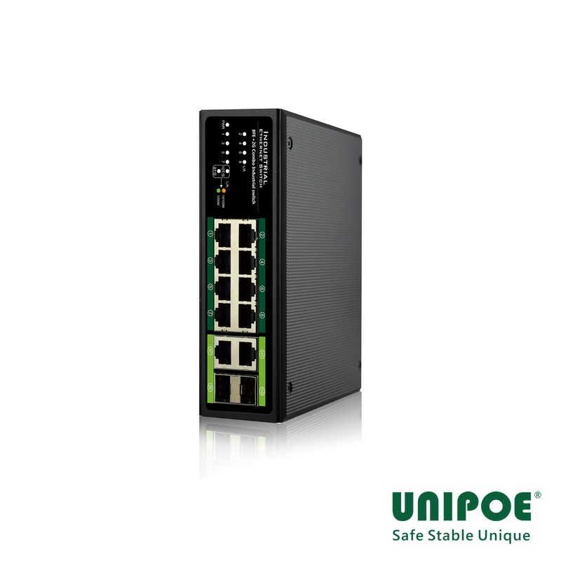8*10/100Mbps+2G Combo Industrial Switch