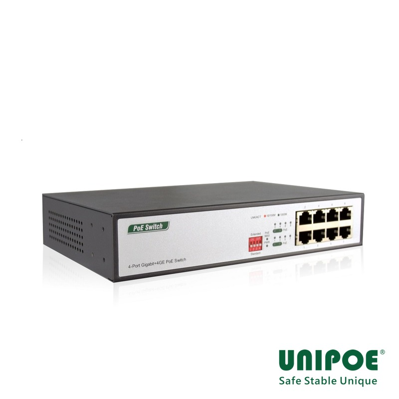 4-Port Gigabit+4GE PoE Switch
