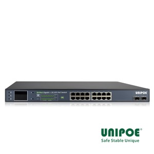 16-Port Gigabit+2G SFP PoE Switch With V3 LCD Display (16-Port PoE,Support 802.3af/at Standard)