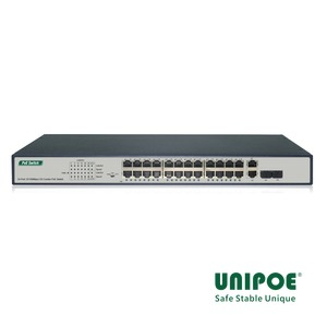 24*10/100Mbps+2G Combo PoE Switch