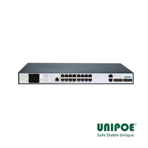 16-Port Gigabit+2G Combo+2G SFP+1Console LCD Display Managed High PoE Switch(16-Port PoE, Port1-8 Support 802.3af/at/bt Standard, Port9-16 Support 802.3af/at Standard)
