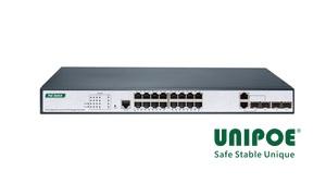 16-Port Gigabit+2G Combo+2G SFP+1Console Managed PoE Switch(16-Port PoE, Support 802.3af/at Standard)