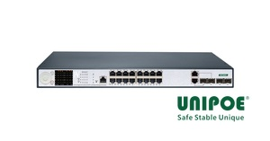 16-Port Gigabit+2G Combo+2G SFP+1Console LCD Display Managed PoE Switch(16-Port PoE, Support 802.3af/at Standard)