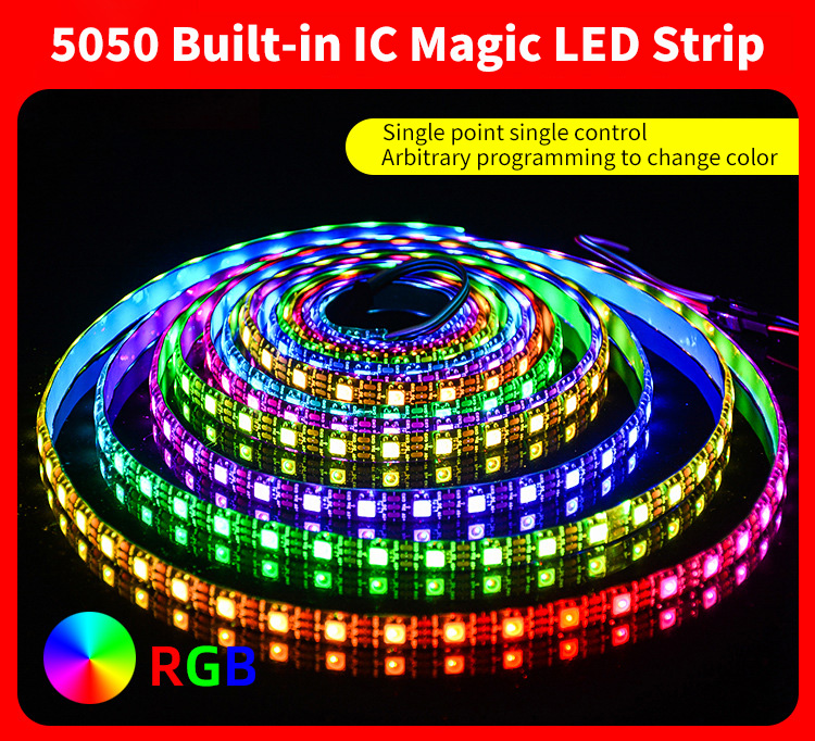 5050 Built-in IC magic LED strips series