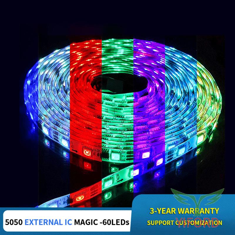 5050 série de lumière led magique IC externe