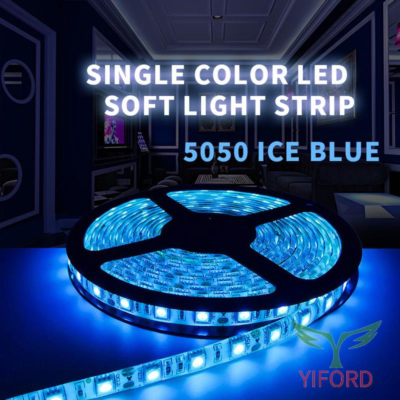 5050 tira de luz suave azul hielo