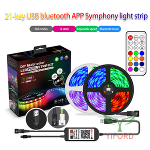 Kit de bande lumineuse pour APP Bluetooth Magic 21 touches