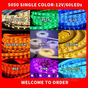 Tiras de luz LED 5050 RGB de un solo color