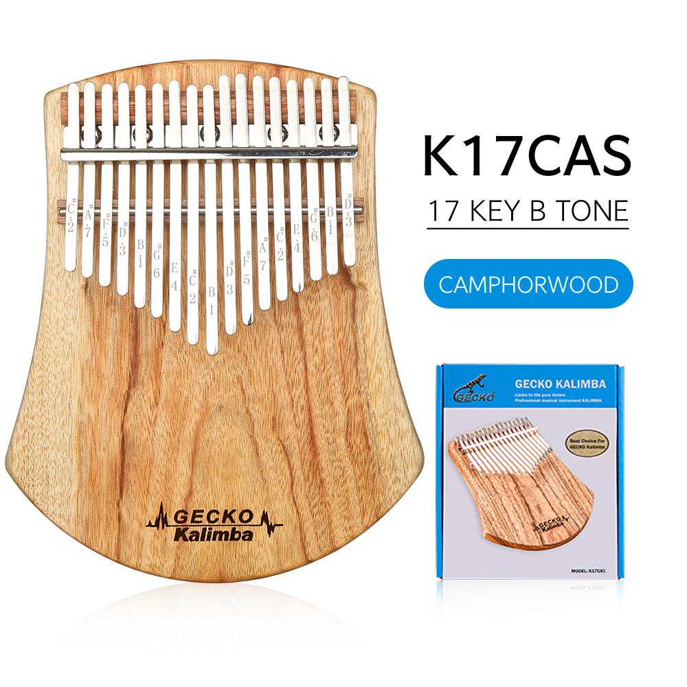 Gecko boutique recommends 17-key thumb piano customized camphor wood carlimba