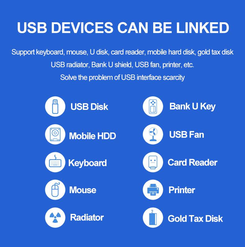 Wholesale Industrial 10 Ports USB3.0 Hub Adapter Docking Station for Furnitures
