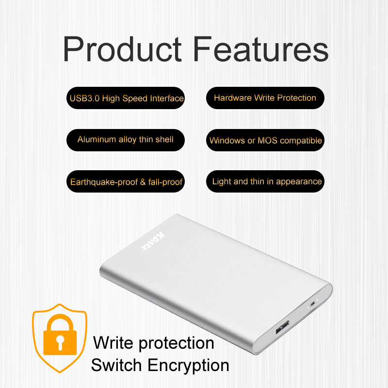 Wholesale factory portable external hard drive cheap USB3.0 SSD solid state drive 60GB hard disk
