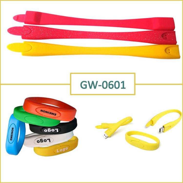 Popular Mini Silicon Wristband Bracelet 32GB USB Flash Drive Memory U disk