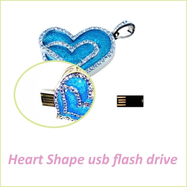 Popular USB Flash Pen Drive Heart Shape for Promotion Gift 16GB