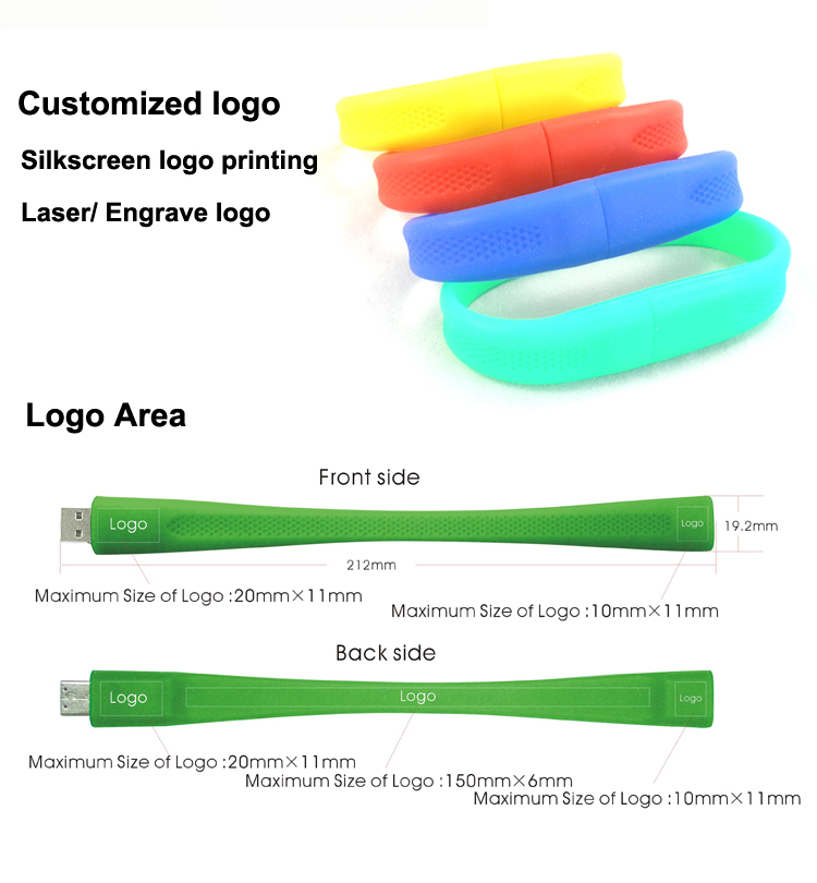 Cheap USB Wristband Silicone USB Flash Drive 16GB
