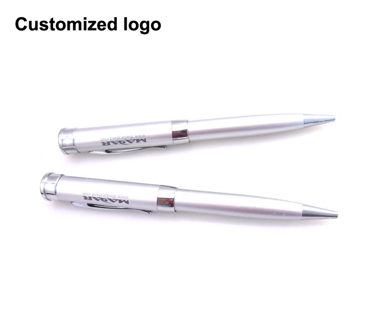 Wholesale Pen Shape Metal Pendrive Stick 8GB USB Flash Drive with Custom Logo