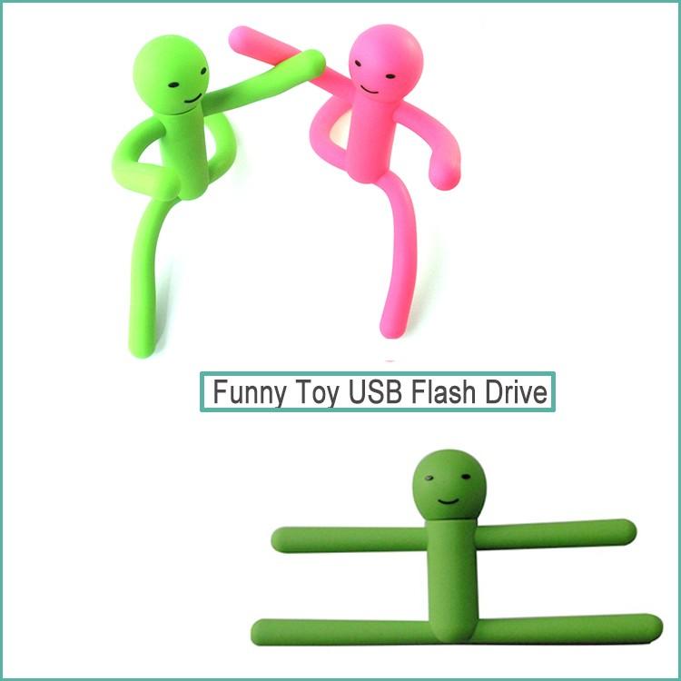 OEM Logo Customized Mini 16GB Cartoon Man Shape Character USB Flash Drive