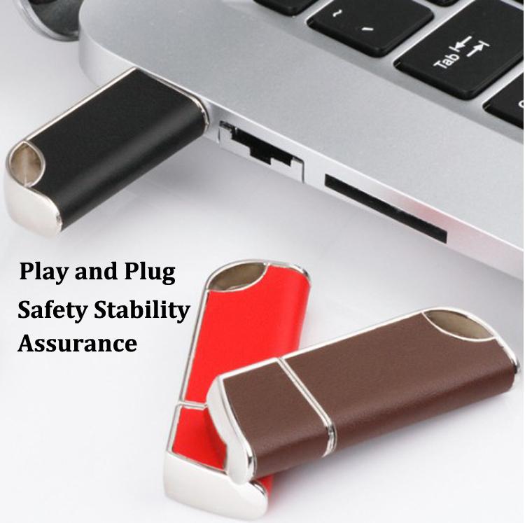 Logo Leather USB Flash Drive 4GB