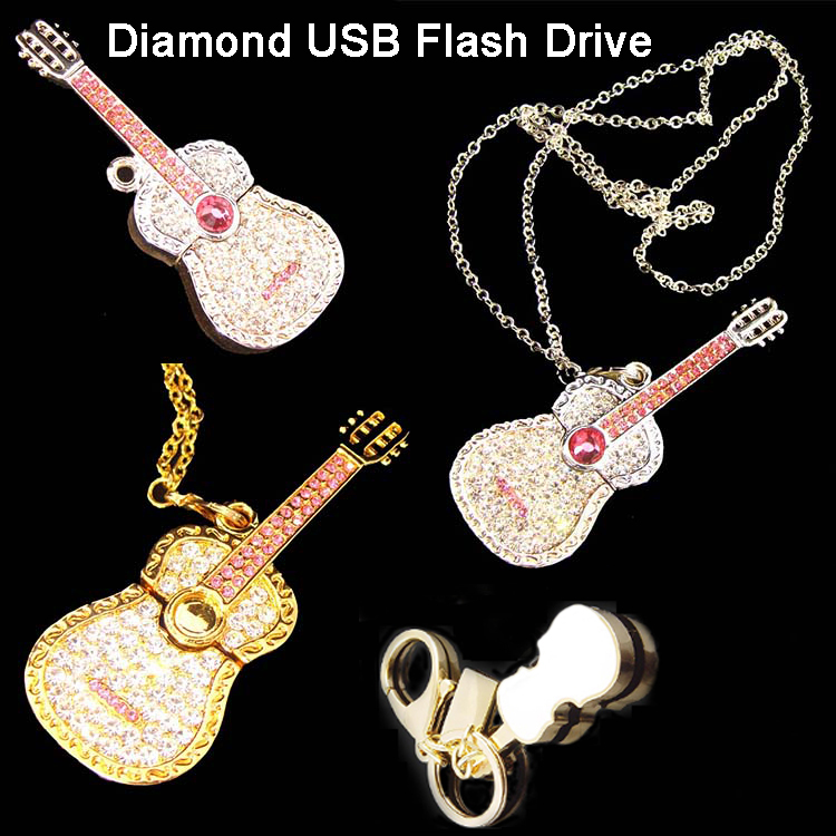 Jewelry Violin USB Flash Memory Violin USB Flash Stick 64GB